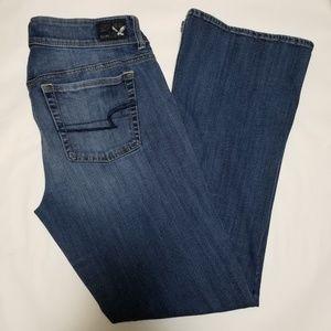 American Eagle Medium Wash Kick Boot Cut Jeans